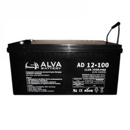Акумулятор ALVA battery AD12-100 Акумулятор Alva battery AS12-100