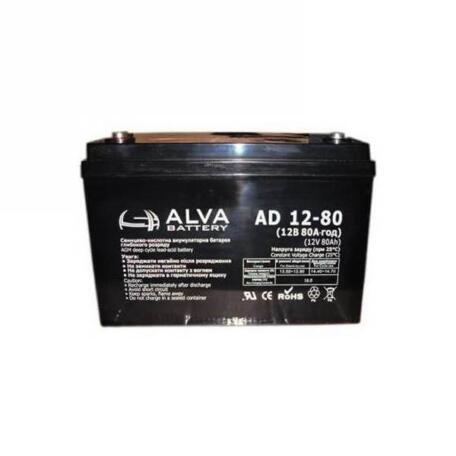Акумулятор ALVA battery AD12-80 AD12-80