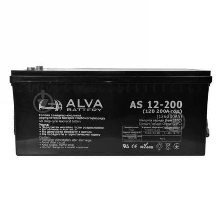 Акумуляторна батарея ALVA battery AS12-200 Акумулятор Alva battery AS12-200