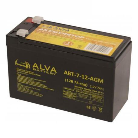 Акумулятор ALVA battery АВТ-7-12-AGM Акумулятор Alva battery АВТ-7-12-AGM