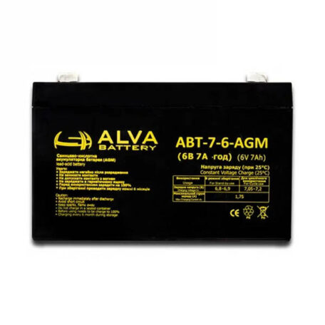 Акумулятор ALVA battery АВТ-7-6-AGM Аккумулятор Alva battery АВТ-7-6-AGM