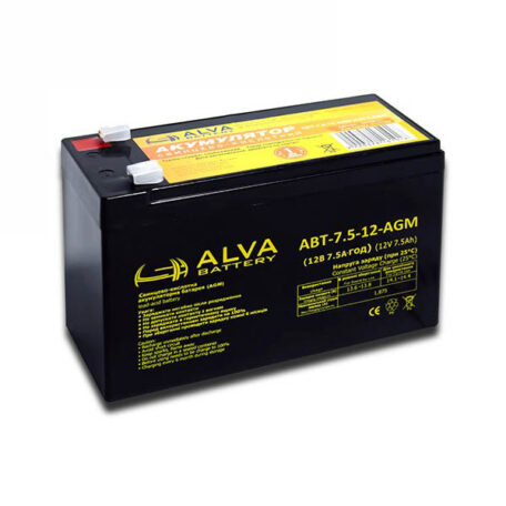 Акумулятор ALVA battery АВТ-7,5-12-AGM Акумулятор Alva battery АВТ-7,5-12-AGM