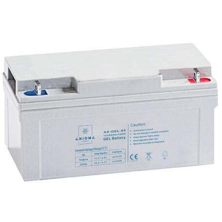 Акумулятор AXIOMA energy 12В 65Ач, AX-GEL-65 Гелевый АКБ 12В 65Ач, AX-GEL-65