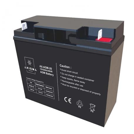 Акумулятор Виробник: AXIOMA energy AGM 12В 20Ач, AX-AGM-20 Аккумулятор AXIOMA energy AX-AGM-20