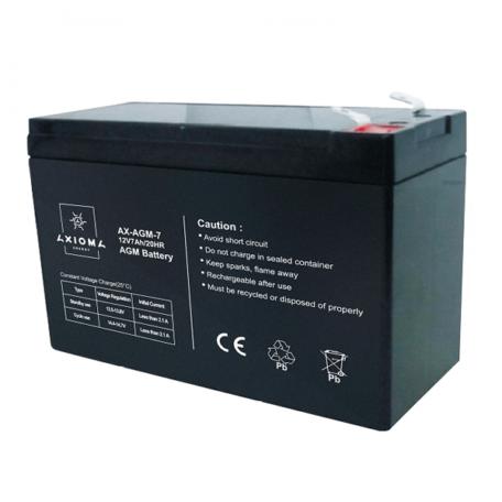 Акумулятор AXIOMA energy AGM 12В 7Ач, AX-AGM-7 AGM 12В 7Ач, AX-AGM-7